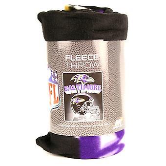 """Baltimore Ravens NFL Northwest """"Mirror"""" Fleece Throw"""