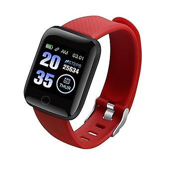 Waterproof 116 Plus Smart Watch Blood Pressure Fitness Tracker Heart Rate Monitor Pedometer Smartwatch Bracelet