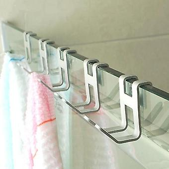 H Shape Aluminum Alloy Door Hook -wall Mounted