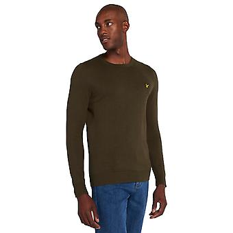 Lyle & Scott Crew Neck Cotton Merino Jumper - Trek Green