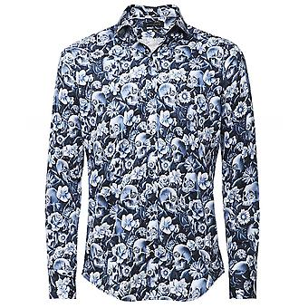 Guide London Slim Fit Skull Flower Shirt