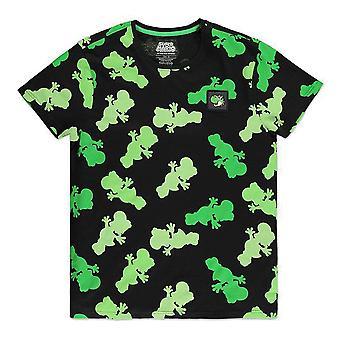 Nintendo Super Mario Bros. Yoshi Silhouette All-Over Print T-skjorte Mannlig Medium