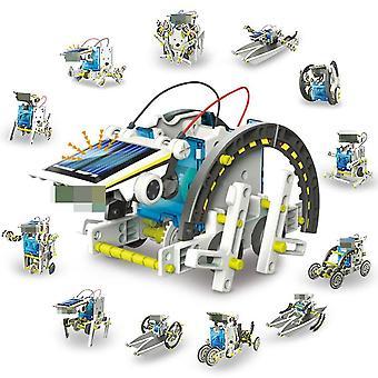 13 In 1 Koulutus Aurinkovoima Robotti Kit Diy Auton muutos robotti lapsille