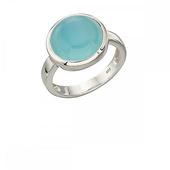 Elements Silver Blue Agate Ring R3586T