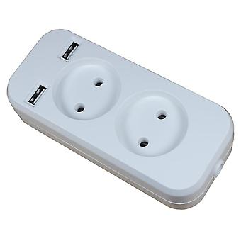 Usb Extension Socket Charger Double Port 5v 2a Outlet High-quality Usb