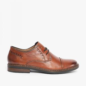 Rieker 17617-24 Mens Leather Extra Wide Shoes Brown