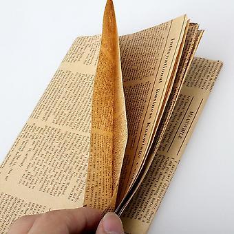 Vintage sanomalehti tyyli käärepaperi (52x75cm)