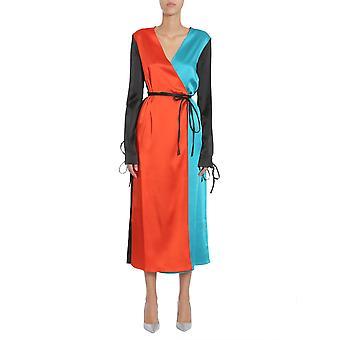 Attico Mgtw17108 Naiset's Monivärinen asetaatti mekko