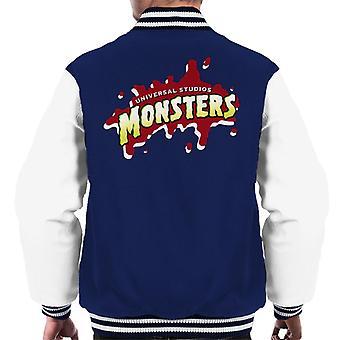 Universal Studios Monsters Blood Logo Men's Varsity Jacket