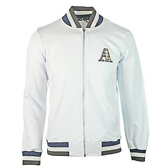 Aquascutum A Logo Zip Sweater White Jacket