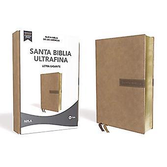 Nbla Santa Biblia Ultrafina, Letra Gigante, Leathersoft, Beige, Edicion Letra Roja