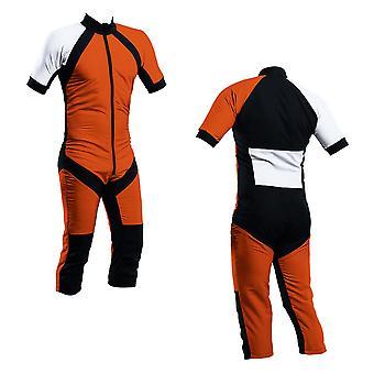 Skydiving summer suit orange-white s2-03