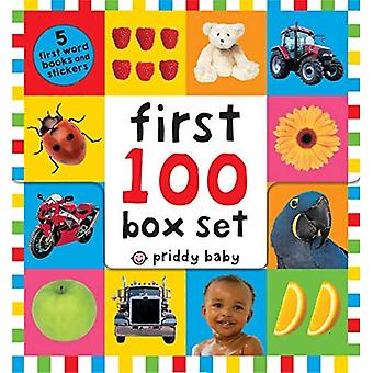 First 100 PB Box Set (5�Books): First 100 Words; First�100 Animals; First 100 Trucks�and Things That Go; First 100�Numbers; First 100 Colors,�Abc, Num