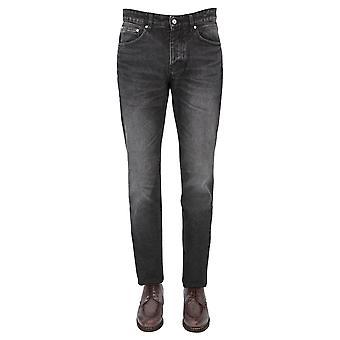 Ami H20hd001611031 Men's Black Cotton Jeans