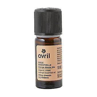 Organisk Sweet Orange eterisk olje 10 ml essensiell olje (oransje)
