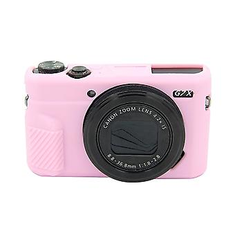 PULUZ Soft Silicone Protective Case for Canon EOS G7 X Mark II(Pink)