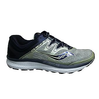 Saucony Guide Iso Grey Navy Low Lace Up Mens Running Trainers S20416 1