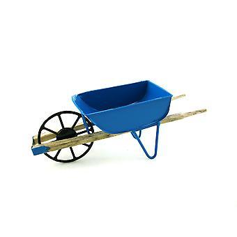 Panenky Dům Miniaturní 1:12 Měřítko Zahradní Příslušenství Modrý trakař