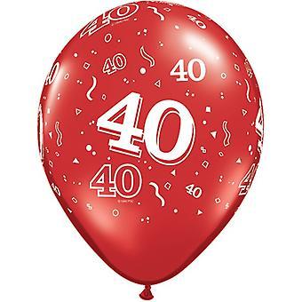 Quatalex 11 Inch 40e verjaardag Latex Ballonnen (25 Pack)