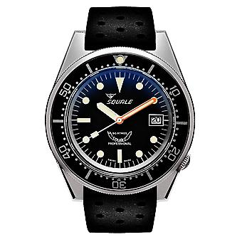 Squale 1521BKBL.NT 500 Meter Swiss Automatic Dive Wristwatch Rubber