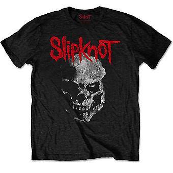 Slipknot Grå kapitel Skull Officielle Tee T-shirt Unisex