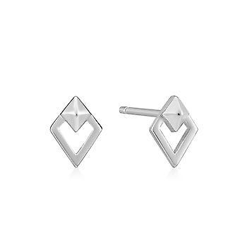 Ania Haie Rhodium Silver Spike Diamond Stud Oorbellen E025-08H