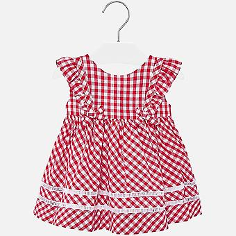 Mayoral baby girls checked red & white dress 1938