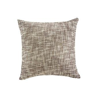 20 X 20 Cotton Accent Pillow With Textured Details, Set Of 4, Brown And White