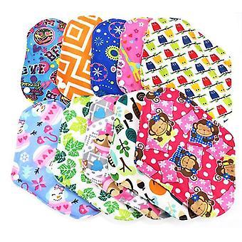 Tampons de maternité en tissu lavable en coton bambou, serviette hygiénique réutilisable