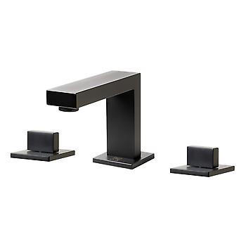 Black Matte Widespread Modern Bathroom Faucet