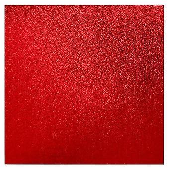 "10"" (254mm) Cake Board Square Red - single"