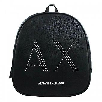 Women's Bag Armani Exchange Backpack Backpack In Black Faux Leather With Studs B21ax07