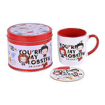Vänner Du & apos;re My Lobster Mug och Coaster Set i presentburk