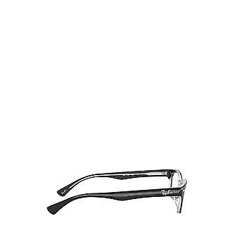 Ray-Ban RX5150 top musta läpinäkyvillä unisex-silmälasilla