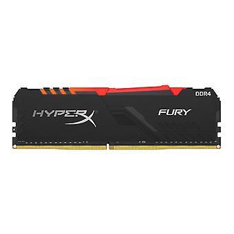 Kingston HyperX Fury RGB 8GB Zwart Koellichaam (1 x 8GB) DDR4 3200MHz DIMM Systeemgeheugen HX432C16FB3A/8