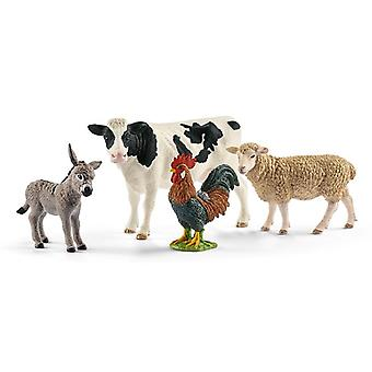 Schleichin maatilan maailman eläimet asetettu