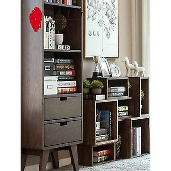 Real Oak Wood Modern Diy Bookshelf