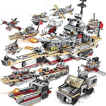 1000pcs Abs Plastic Model Warships Brick