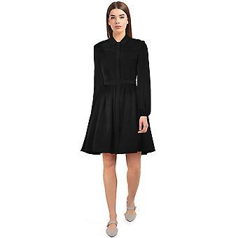 Chic Star Langarm Kleid In Schwarz