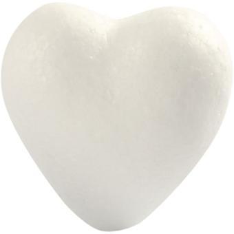 Polystyrene Heart 6cm 5pcs