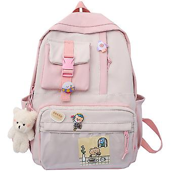 Ulzzang large capacity ins cute girl junior high school student transparent backpack