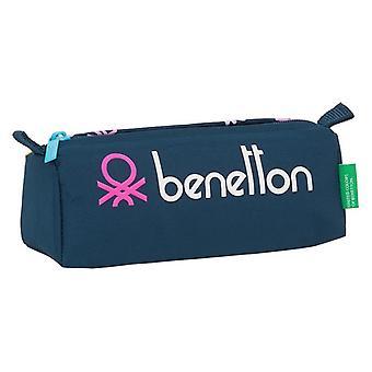 Holdall Benetton Dot Com Navy Blue