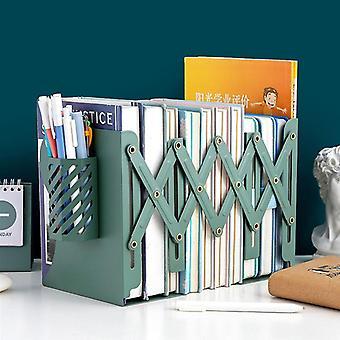 Telescopic Folding Book Stand Creative Metal Bookshelf Book Storage Office Student Desktop Storage Stationery