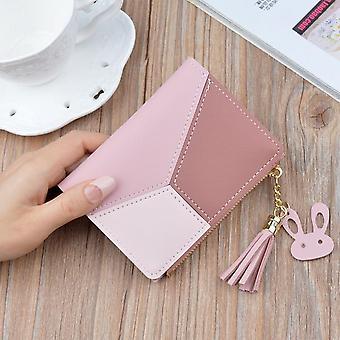 Ny ankomst plånbok korta kvinnor plånböcker dragkedja handväska patchwork mode panelade plånböcker trendiga mynt plånbok korthållare läder