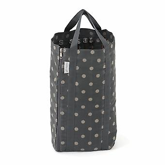 Hobby Gift Knitting Bag with Pin Storage: Reversible: Charcoal Spot