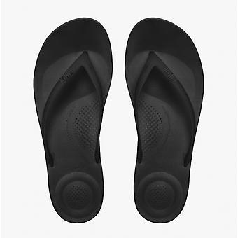FitFlop Iqushion™ damer ergonomisk tå post flip flops alla svarta
