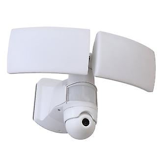 Lutec Libra Security PIR Motion Sensor LED Light And CCTV In Grey