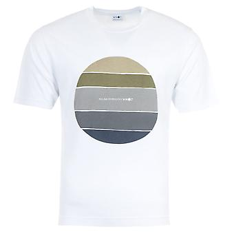 NN07 Dylan Print Sustainable Cotton T-Shirt - White