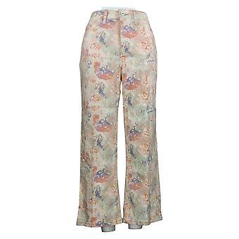 Sam Edelman Dames Jeans The Chelsea Wide Leg Roze A448960