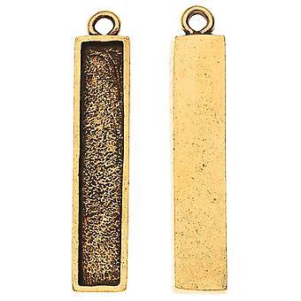 Nunn Design Charm, Itsy Suorakulmio Kehys 6x32mm, 2 Kpl, Antiikki kultaa